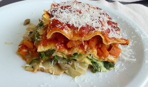 Lasagnes végétariennes tricolores