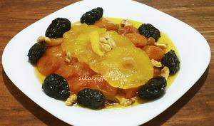 Tajine sucré salé ananas abricots et pruneaux