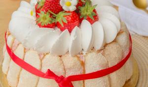 Charlotte aux fraises vegan