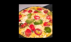 Omelette pizza