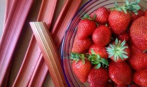 Confiture fraise - rhubarbe
