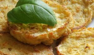 Galettes de chou fleur au fromage