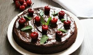 Gâteau chocolat cerises