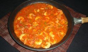 Crevettes à la sauce épicée au cajun