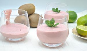 Smoothie fraises kiwis