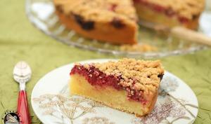 Gâteau crumble aux framboises