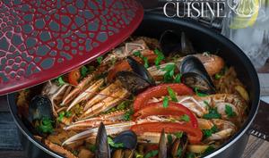 recette de paëlla au poulet et fruits de mer