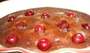 Clafownie aux cerises ou brownie-clafoutis aux cerises