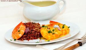 Curry de langoustines et riso rosso