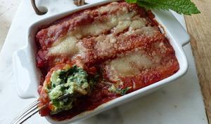 Cannelloni au brocciu et aux épinards