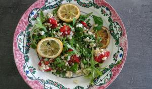 Salade de fregola et citrons rôtis de Yotam Ottolenghi