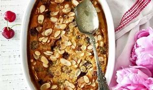 Clafoutis aux cerises, amandes, kirsh