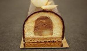 Bûche de noël chocolat poire
