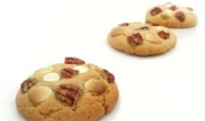 Cookies au beurre de cacahuètes, chocolat blanc et noix de pécan