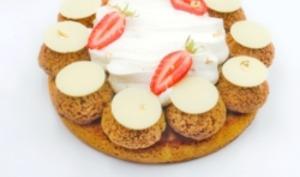 Saint-Honoré vanille fraise