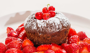 Mon fondant au chocolat aux fruits rouges