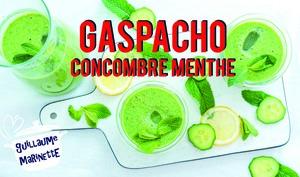 Gaspacho concombre menthe