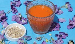 Soupe froide de carottes au fenouil