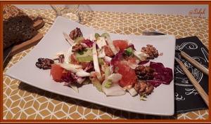 Salade de fenouil, céleri et pamplemousse