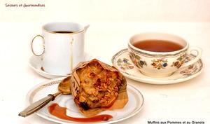 Muffins aux pommes et au Granola.