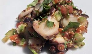 Salade de poulpe, moutarde à l'ancienne