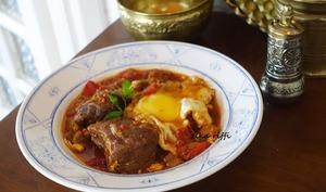 Chakchouka confite à la viande