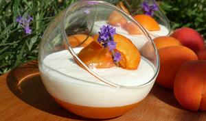 Mousse de yaourt grec et gelée d'abricot à la lavande