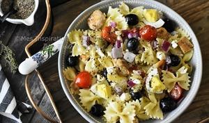 Salade de farfalle au poulet