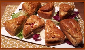 Minis cakes poivrons marinés et feta