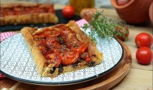 Tarte fine aux tomates et échalotes