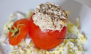 Tomate farcie aux filets de sardine