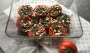 Tomates provencales rôties au four à l'ail