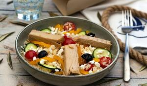 Salade de riz au thon façon grecque