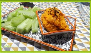 Houmous de carottes au sésame