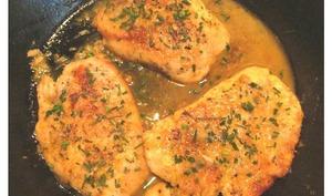Escalopes de poulet au beurre et au citron