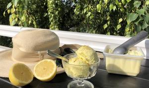 Crème glacée au citron sans sobretière