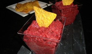 Guacamole de betterave rouge
