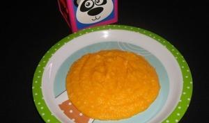 Purée de riz et de carotte