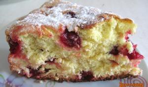 Gâteau super moelleux aux griottes ou cerises