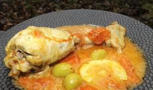 Pilons de poulet au citron et aux tomates cerises