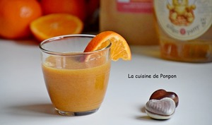 Jus de mandarine, orange, guarana et sirop de gingembre