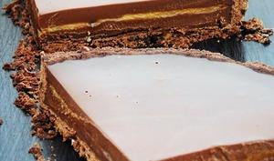 Tarte choco chocolat caramel