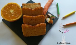 Gâteau vitaminé carotte/orange