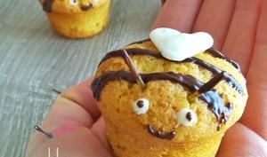 Mini muffins citron/miel, cœur chocolat blanc