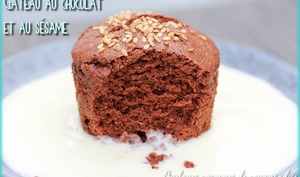 Petit gâteau au chocolat et au sésame