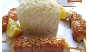 Brochettes yakitori de bacon au fromage