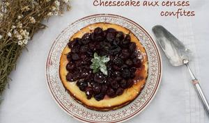 Cheesecake aux cerises confites