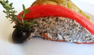 Charlotte de poivrons et chèvre frais - Cuisine gourmande de Carmencita