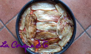 Gratin de riz aux aubergines frites à la palermitaine