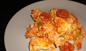 Jambalaya au poulet et au chorizo